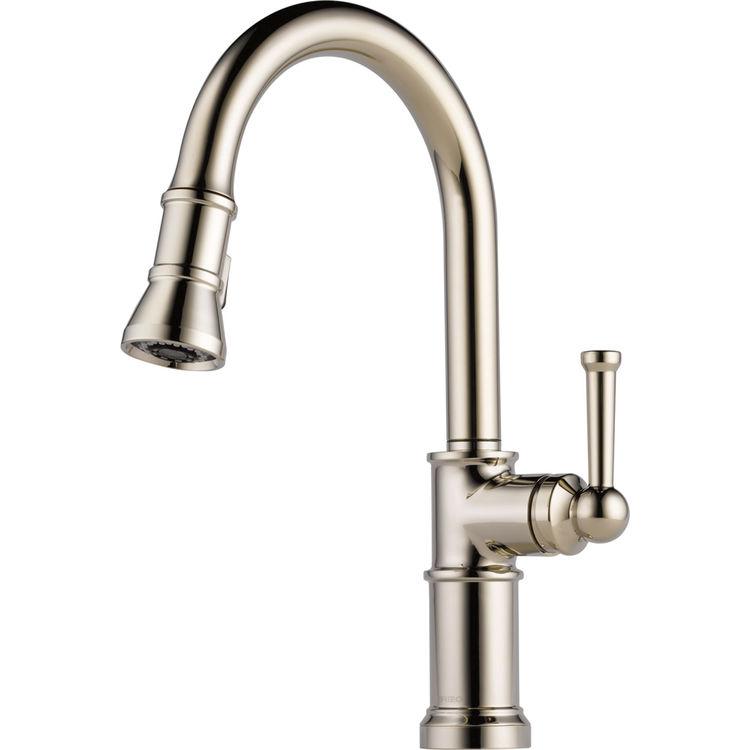 Brizo 63025LF-PN Polished Nickel Artesso Single Handle Pull-down Kitchen  Faucet
