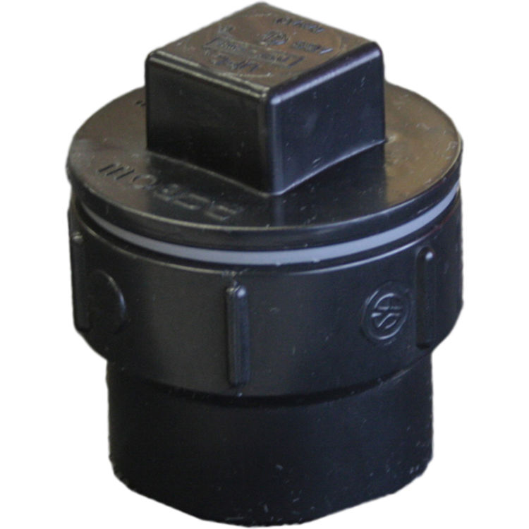 Commodity  1-1/2 Inch ABS Cleanout Adapter, ABS Construction