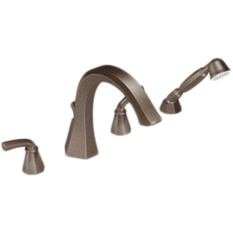 Moen TS244ORB Moen TS244ORB Two Handle High Arc Roman Tub Faucet With Handheld Shower