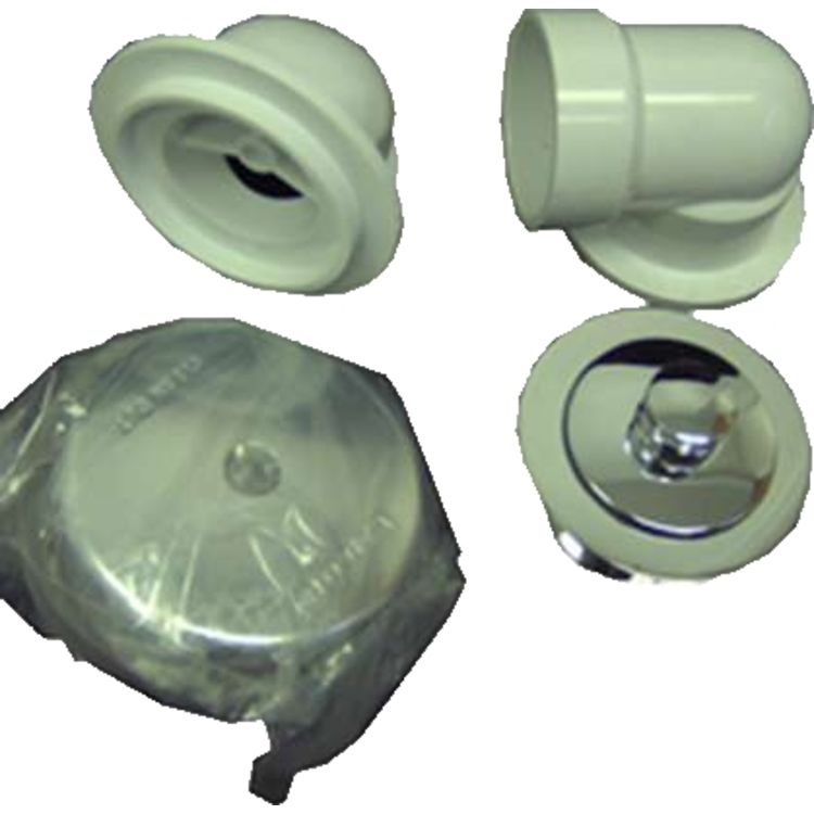 Watco 651-PP-PVC-CP Watco 651-PP-PVC-CP Schedule 40 PVC Push Pull Polished Chrome Half Bath Kit