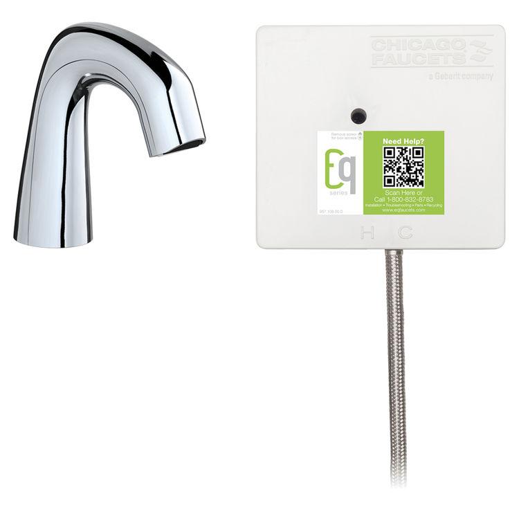 Chicago Faucet EQ-D11A-11ABCP Chicago EQ-D11A-11ABCP Chrome Curved Series Lavatory Sink Faucet