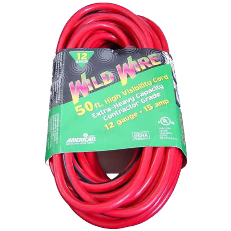 Voltec  50' Red Extension Cord with Lighted End