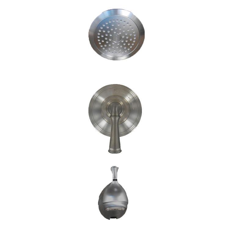 Kohler T10274-4A-G Kohler K-T10274-4A-G Forte Brushed Chrome Right-Temp Bath/Shower Trim Set
