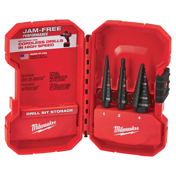 Milwaukee 48-89-9221 Milwaukee 48-89-9221 Step Drill Bit Set - 3PC