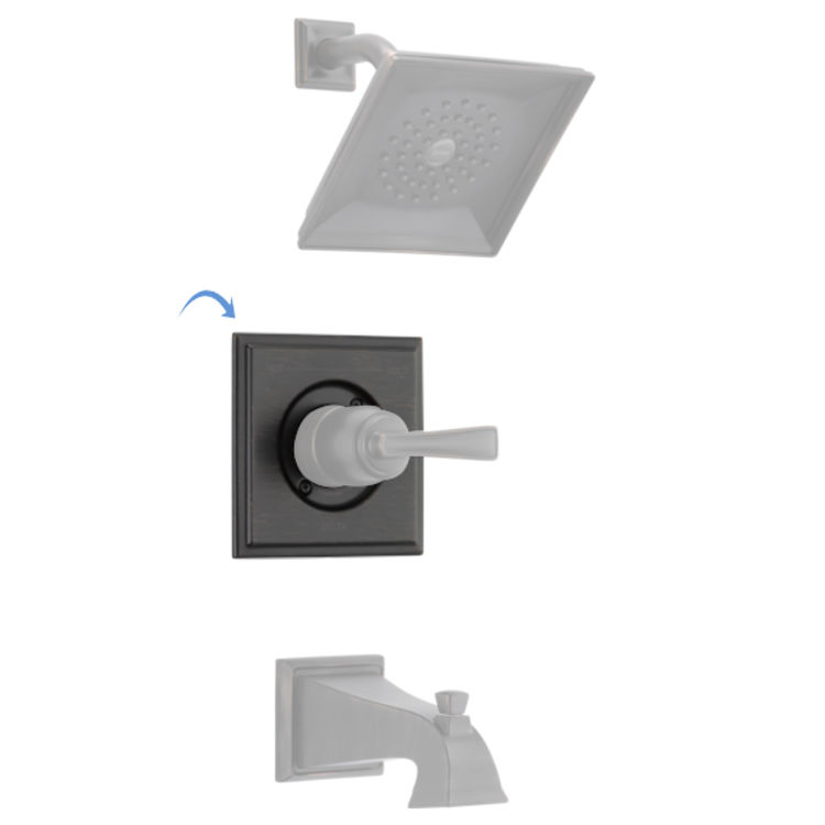 View 2 of Delta RP77035RB Delta RP77035RB Olmsted Square-Shaped Tub/Shower Trim Valve Escutcheon, Venetian Bronze