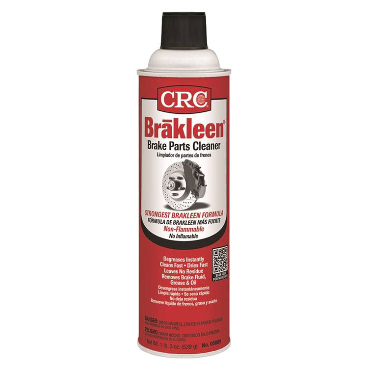 CRC 5089 Brakleen 5089 Brake Parts Cleaner, 19 oz, Aerosol Can, Clear, Liquid, Irritating