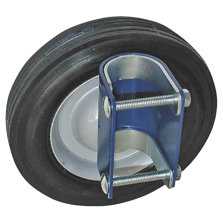 Speeco S16100600 Gate Wheel, For Use With 1-5/8 - 2 in OD Round Tube Gates, 8 in Diameter, Blue