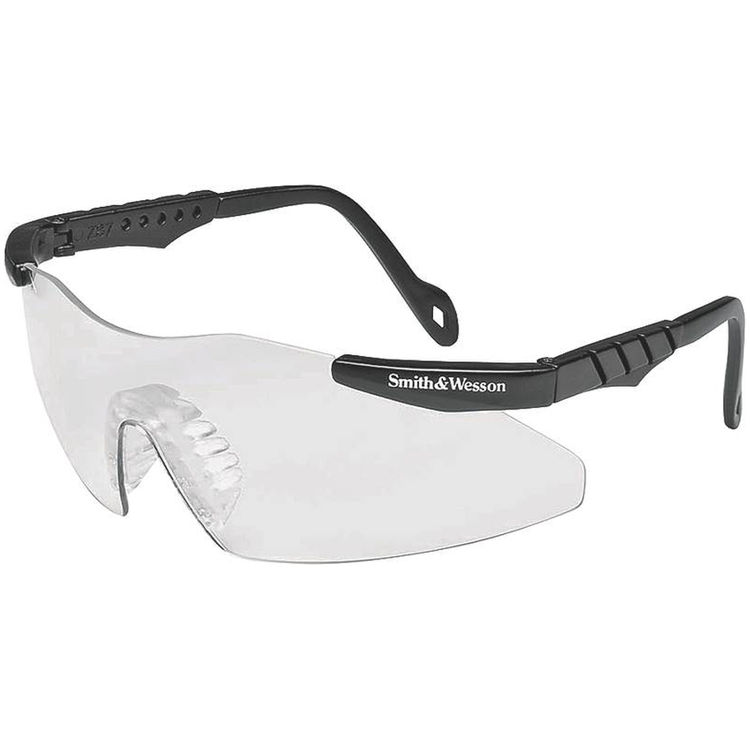 Jackson 3011672 Smith & Wesson Magnum 3G Safety Glass, Clear Scratch Resistant Polycarbonate Lens, Black Nylon Frame