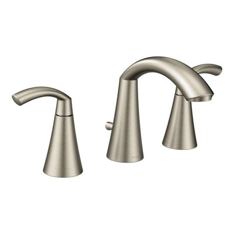 Moen T6173BN Moen T6173BN Glyde Two Handle Widespread Lavatory Faucet Brushed Nickel