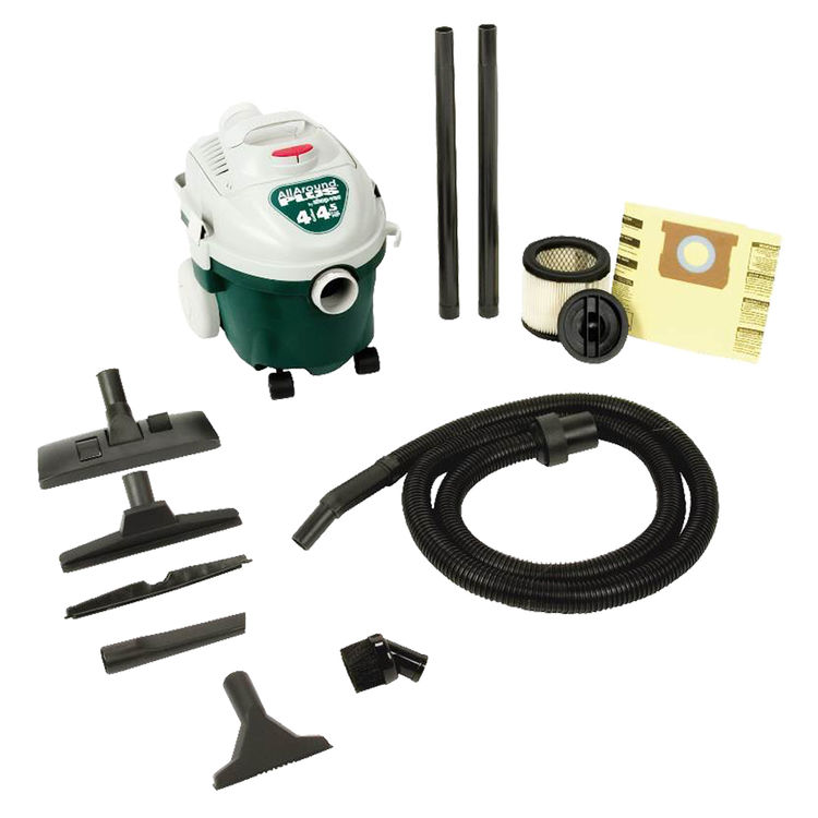 Shop-Vac 5870400 All Around 5870400 Wet/Dry Corded Vacuum, 120 VAC, 9 A, 4-1/2 hp, 4 gal Tank, 175 cfm