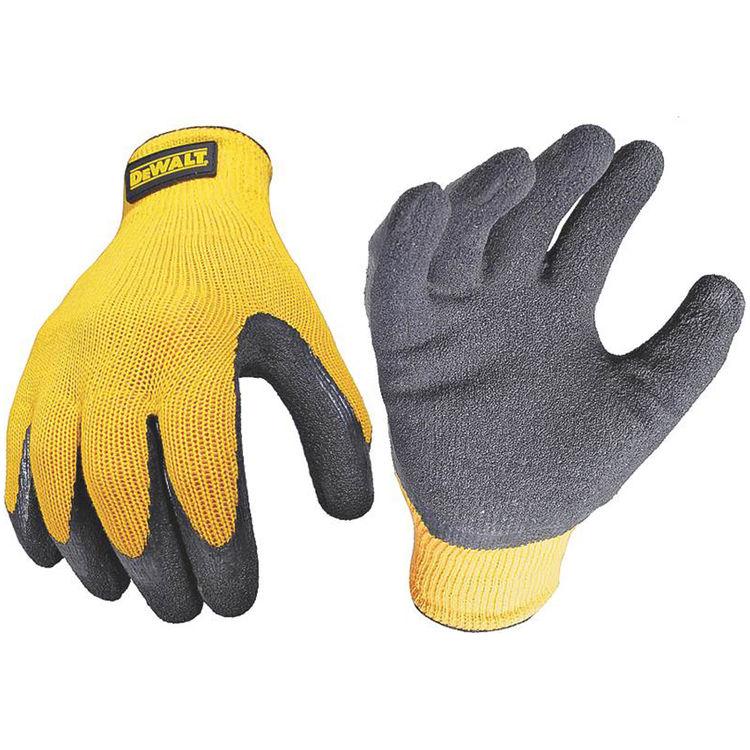 DeWalt DPG70L Dewalt DPG70L Ergonomic Protective Gloves, Large, Rubber, Black/Yellow