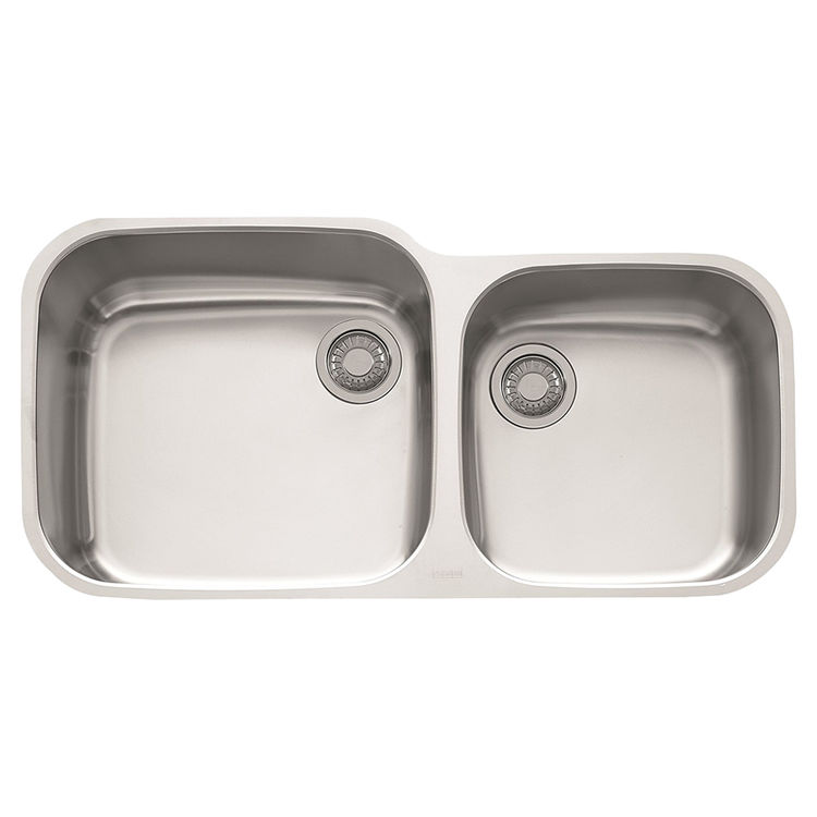 View 2 of Franke GNX120 Franke GNX120 Double Bowl Undermount Stainless Undermount Sink - Stainless