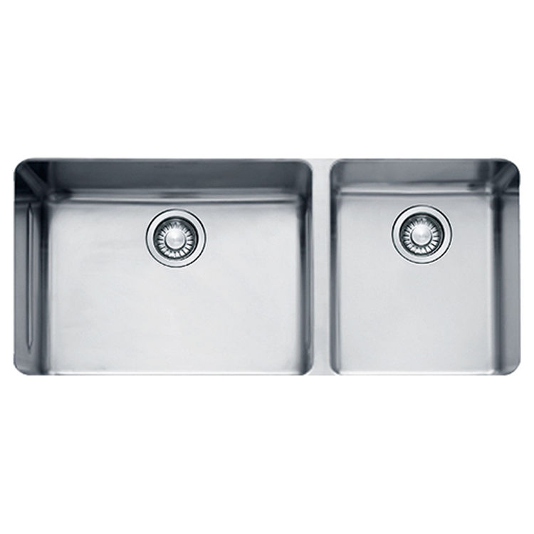 View 2 of Franke KBX12039 Franke KBX12039 Double Bowl Undermount Stainless Undermount Sink - Stainless