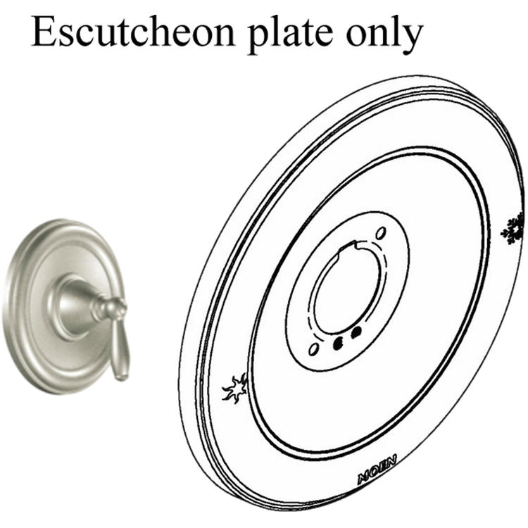 Moen 131108BN Moen 131108BN Part Shower Escutcheon StainLess