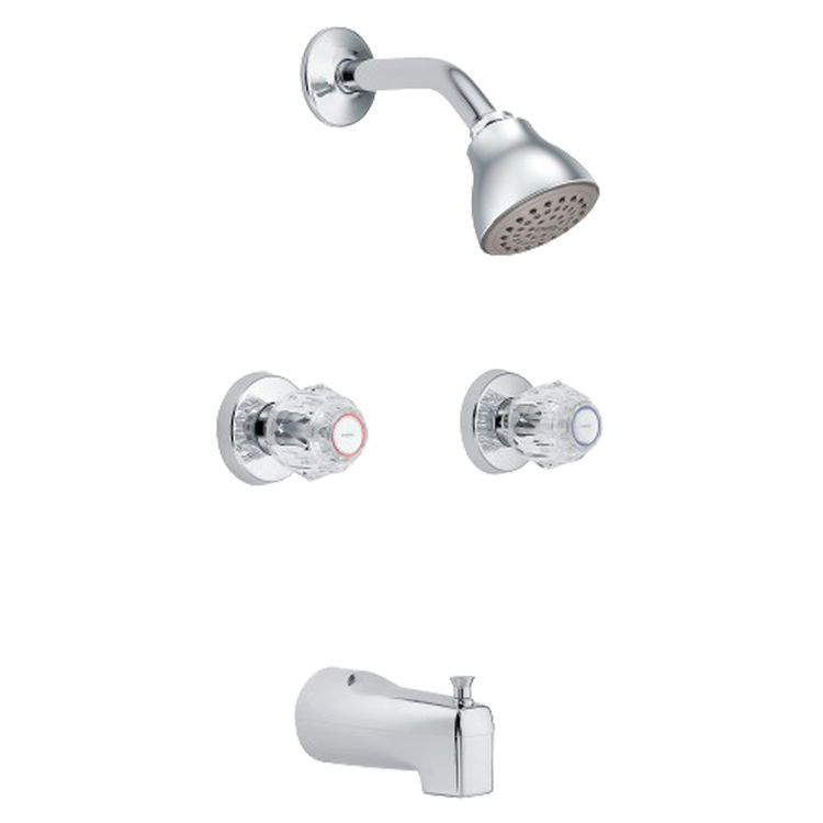 Moen 2919EP Moen 2919EP Chateau Two-Handle Tub and Eco-Performance Shower Faucet, Chrome