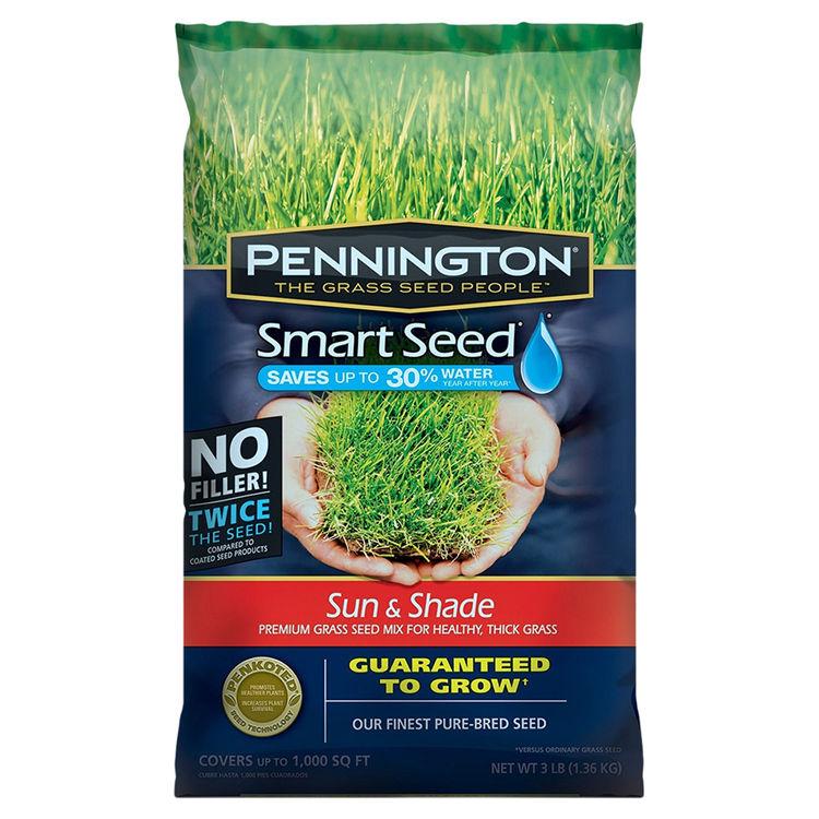 Pennington Seed 100086838 Pennington Seed 100086838 Smart Seed Grass Seed, Sun/Shade, 3 Lb