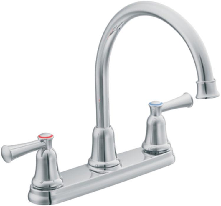 Moen CFG 41611 Two Handle High Arc Kitchen Faucet | PlumbersStock