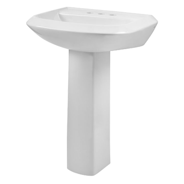 Gerber 23 594 Avalanche 4 Centers Petite Pedestal Bathroom Sink