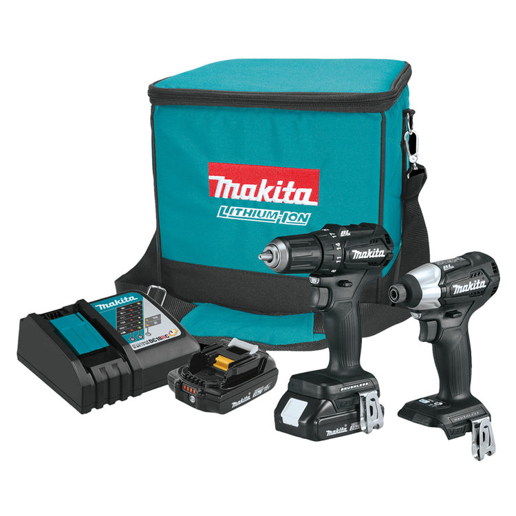 View 2 of Makita CX200RB Makita CX200RB 18V LXT Lithium-Ion Sub-Compact Brushless Cordless 2-Pc. Combo Kit (2.0Ah)