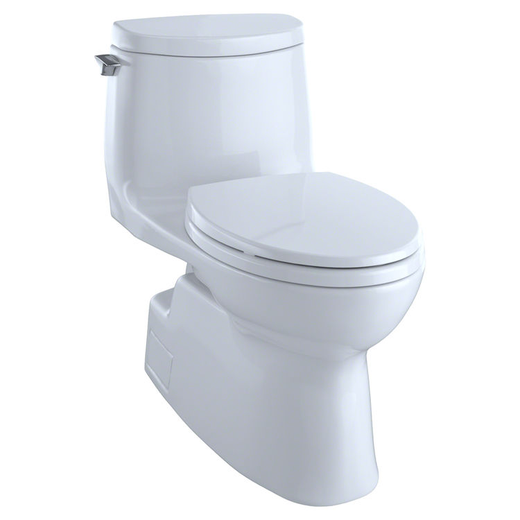 View 2 of Toto MS614114CUFG#01 TOTO Carlyle II 1G One-Piece Elongated 1.0 GPF Universal Height Skirted Toilet with CeFiONtect, Cotton White - MS614114CUFG#01