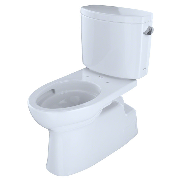 toto vespin ii. TOTO Vespin II Two-Piece Elongated 1.28 GPF Universal Height Skirted Toilet With CeFiONtect And Right-Hand Trip Lever, Cotton White - CST474CEFRG#01 Toto Ii E