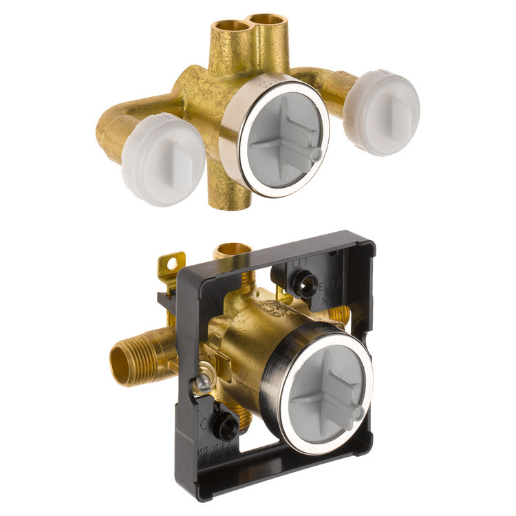 Delta R18000-XOWS Delta R18000-XOWS Delta Jetted Shower Rough-In Valve w/extra Outlet (6-Setting)