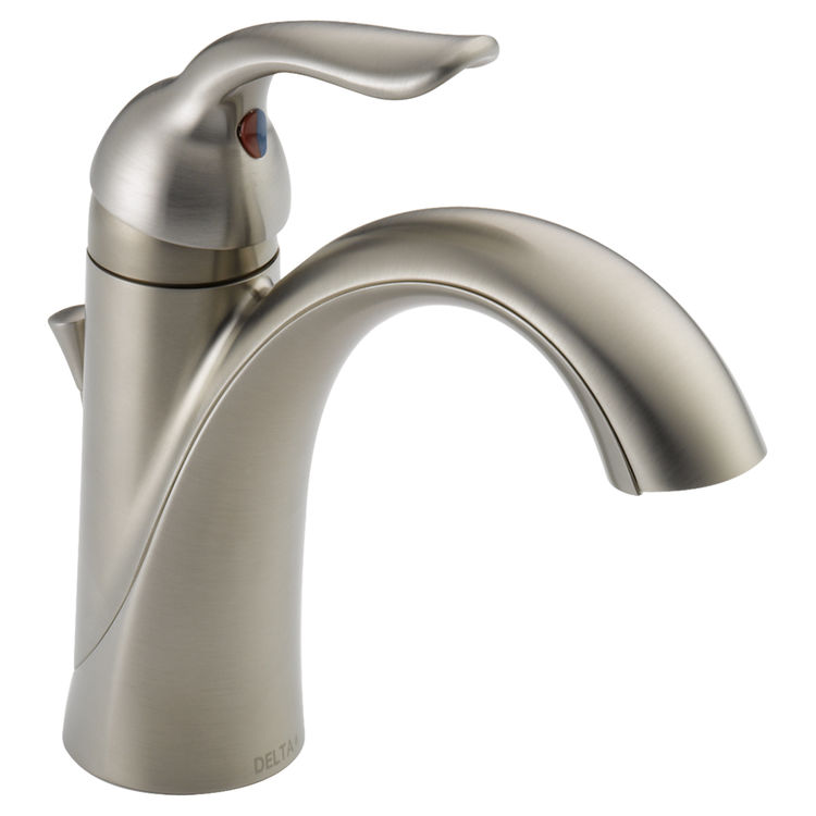 View 2 of Delta 538-SSMPU-DST Delta 538-SSMPU-DST Lahara Single Handle Bathroom Faucet- Stainless