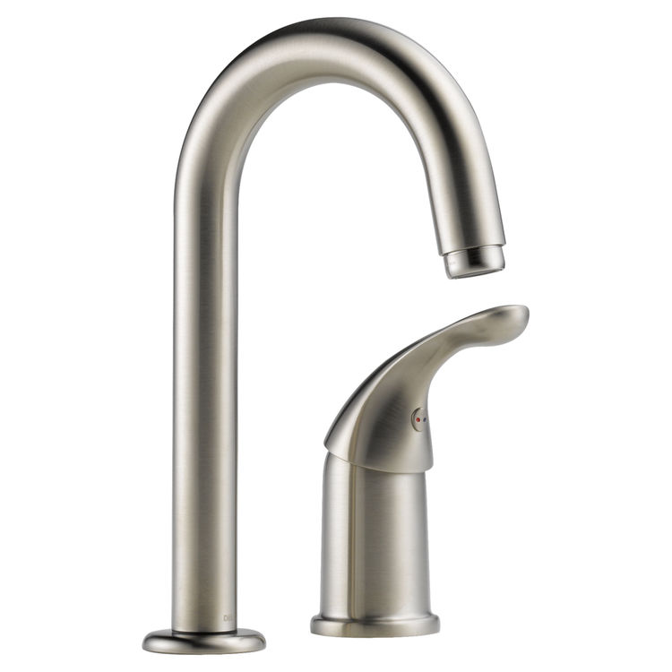 Delta 1903-SS-DST Delta 1903-SS-DST Classic Single Handle Bar/Prep Faucet (Stainless)