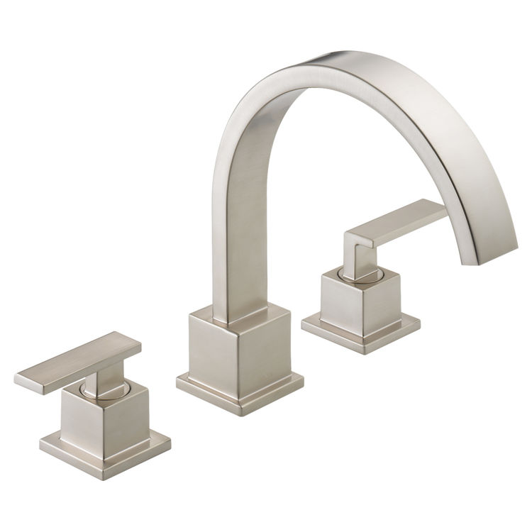 Delta T2753-SS Delta T2753SS Vero Roman Tub Faucet in Stainless Steel