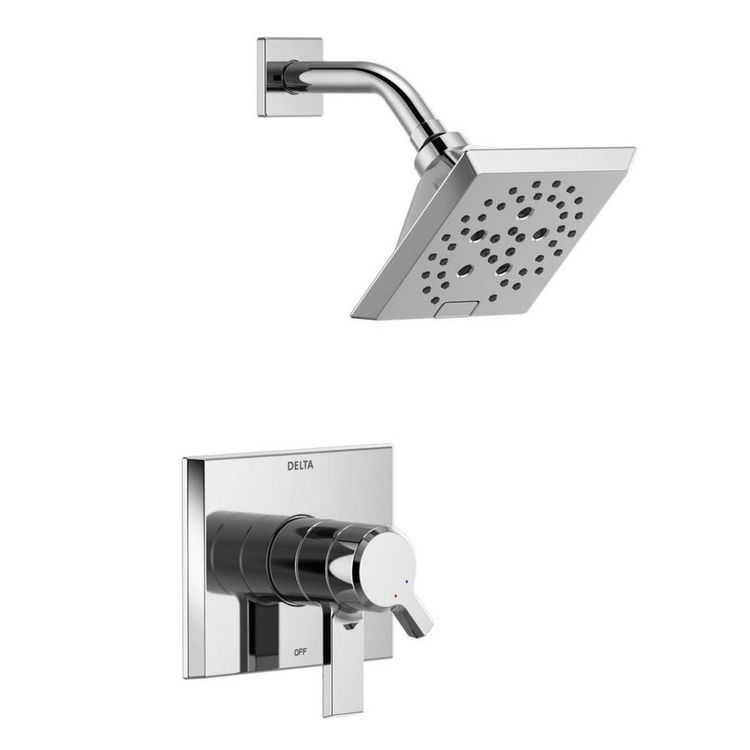 View 2 of Delta T17299 Delta T17299 Pivotal Monitor 17 Series H2Okinetic Shower Trim - Polished Chrome