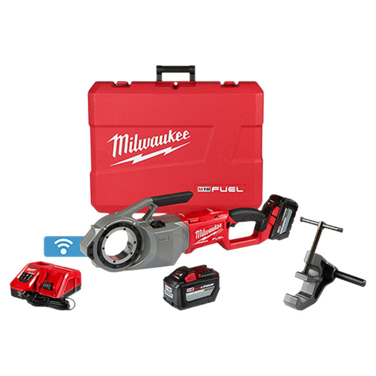 View 2 of   Milwaukee 2874-22HD M18 ONE-KEY Pipe Threader Kit