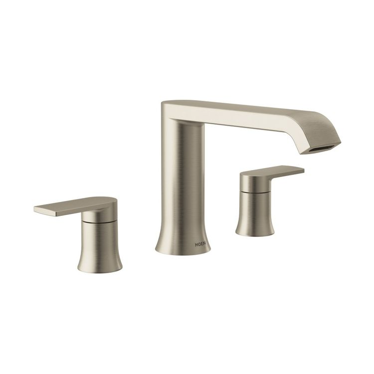 Moen T908bn Genta Two Handle Roman Tub Faucet Low Arc Brushed
