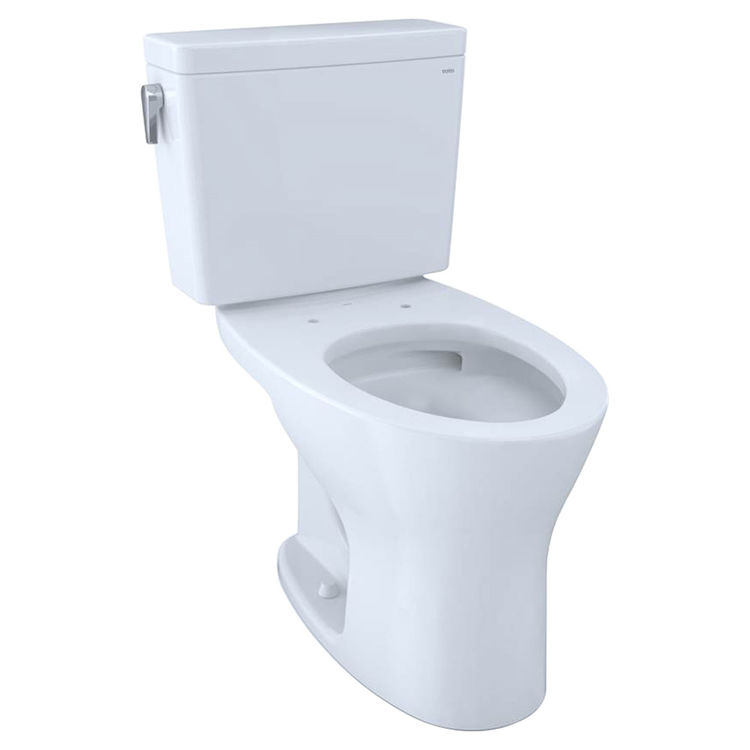 View 2 of Toto CST746CSMFG#01 TOTO CST746CSMFG#01 Drake Two-Piece Toilet 1.6 GPF & 0.8 GPF Elongated Bowl Universal Height -  Cotton White