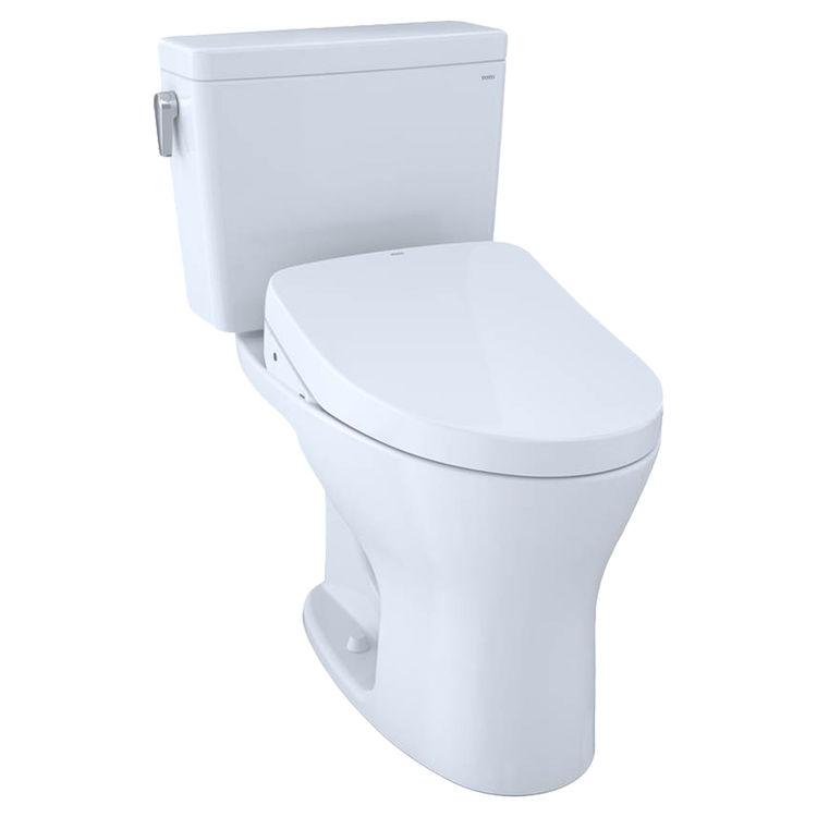 View 2 of Toto MW7463056CUMFGA#01 TOTO Drake 1G WASHLET+ S550e Two-Piece Toilet - 1.0 GPF & 0.8 GPF - Universal Height - Cotton White - MW7463056CUMFGA#01