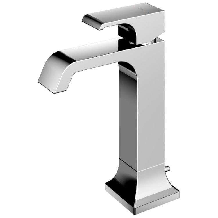 Toto TLG08303U#CP TOTO GC 1.2 GPM Single Handle Semi-Vessel Bathroom Sink Faucet with COMFORT GLIDE Technology, Polished Chrome - TLG08303U#CP