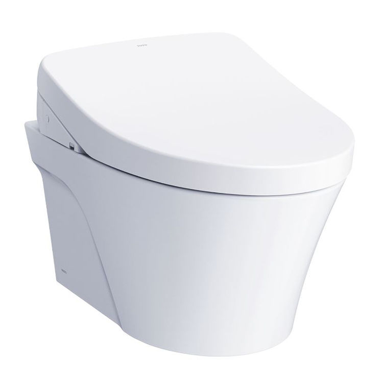Toto CWT4263056CMFGA#MS TOTO AP WASHLET+ S550e Wall-Hung Toilet - 1.28 GPF & 0.9 GPF - Auto Flush, CWT4263056CMFGA#MS - Cotton White
