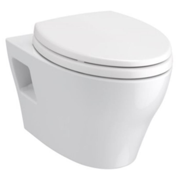 Toto CT428CFGT40#01 TOTO EP Wall-Hung Toilet Bowl - 1.28 GPF/0.9 GPF,CT428CFGT40#01 - Cotton