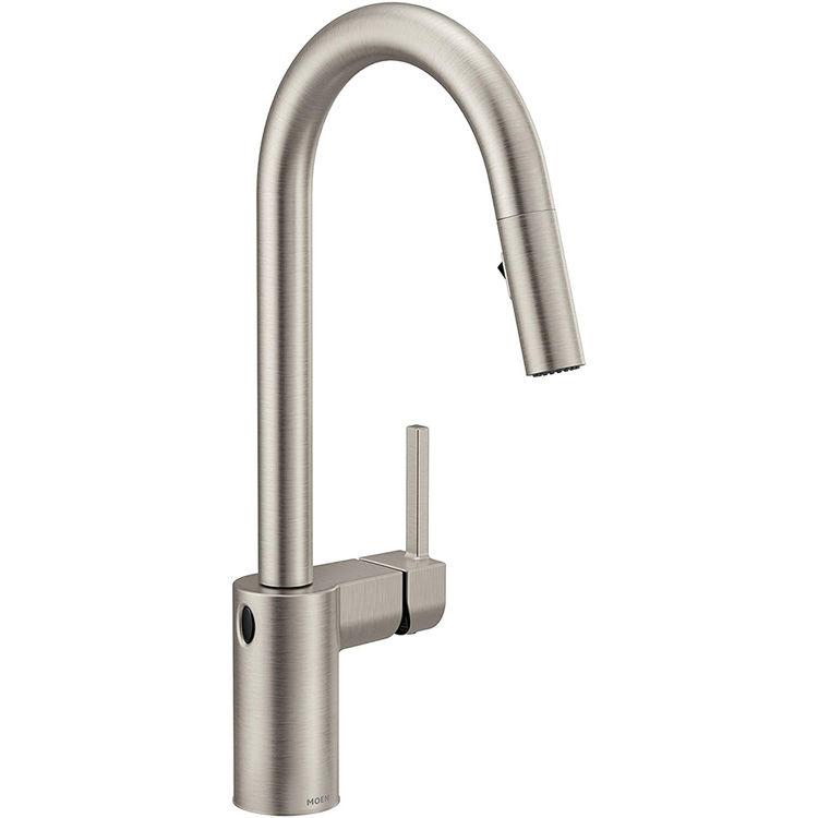 Moen 7565ewsrs Align One Handle High Arc Pulldown Kitchen Faucet W Motionsense Spot Resist Stainless