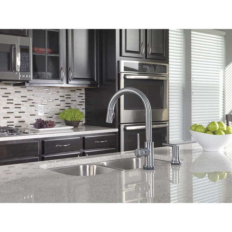 Delta 9159 AR DST Arctic Stainless Steel Single Handle Pull Down Kitchen  Faucet