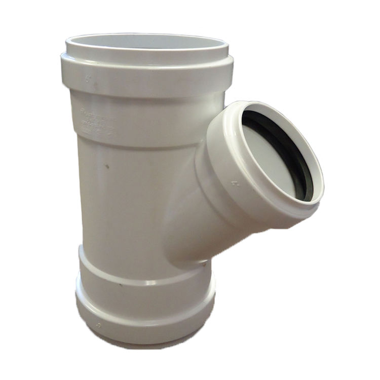 Commodity  Canplas 429302 8 x 8 x 4 inches PVC SDR35 Gasketed Wye Tee