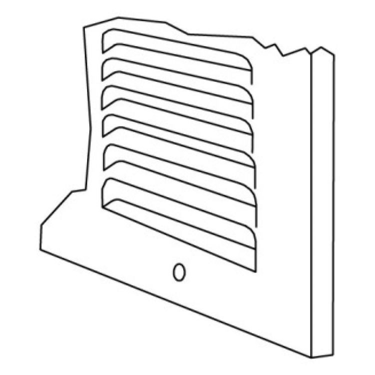 View 5 of Shoemaker 1150-24X10 24x10 Soft White Baseboard Return Air Grille (Steel) - Shoemaker 1150