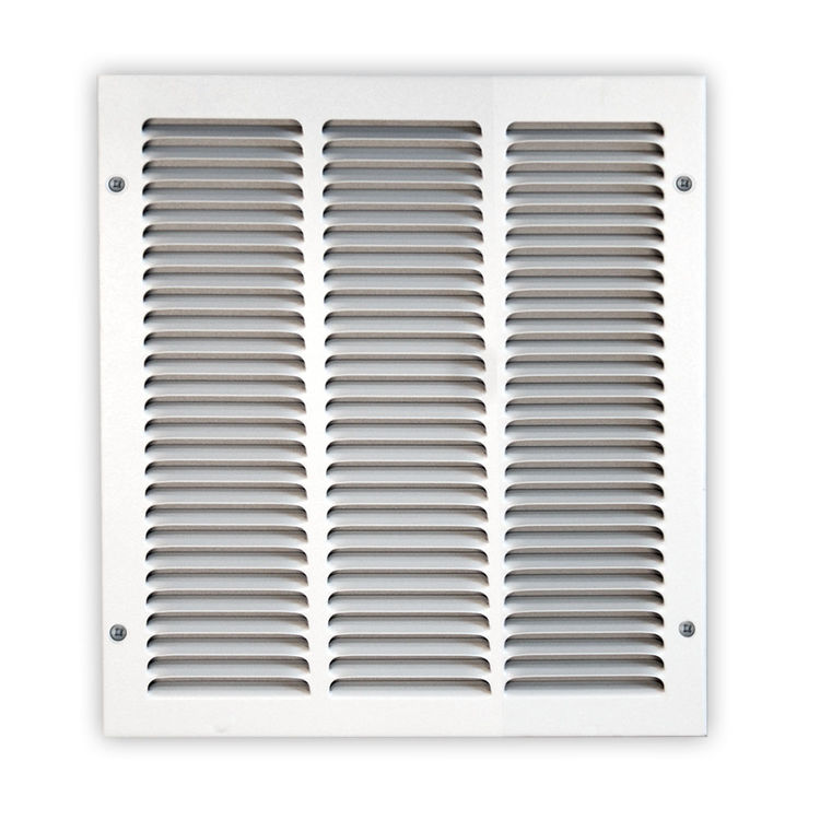 View 3 of Shoemaker 1050-14X14 14x14 Soft White Return Air Grille (Stamped from Cold Roll Steel) - Shoemaker 1050