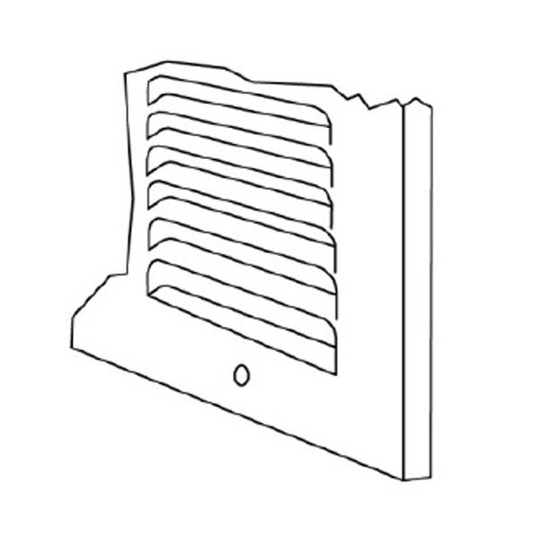 View 6 of Shoemaker 1050-14X14 14x14 Soft White Return Air Grille (Stamped from Cold Roll Steel) - Shoemaker 1050