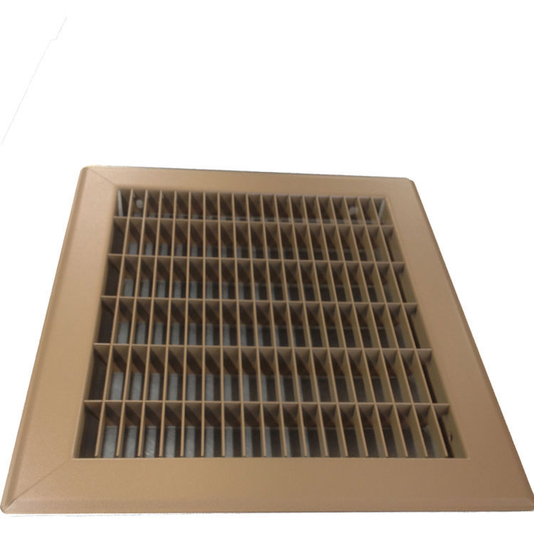View 3 of Shoemaker 1600-4X6 4x6 Driftwood Tan Vent Cover (Steel Honeycomb Construction) - Shoemaker 1600