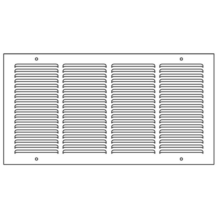 View 5 of Shoemaker 1150-30X8 30x8 Soft White Baseboard Return Air Grille (Steel) - Shoemaker 1150