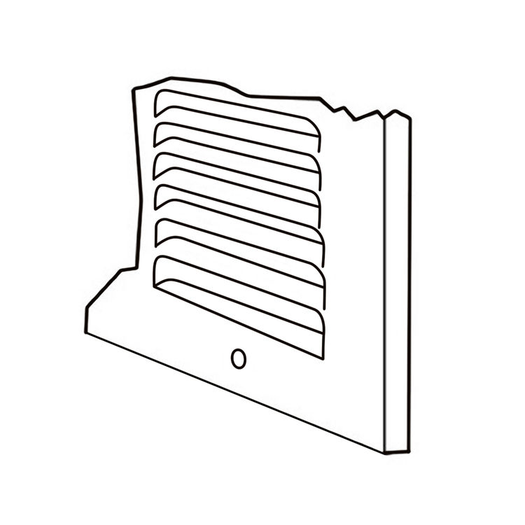 View 5 of Shoemaker 1050-12X20 12x20 Soft White Return Air Grille (Stamped from Cold Roll Steel) - Shoemaker 1050