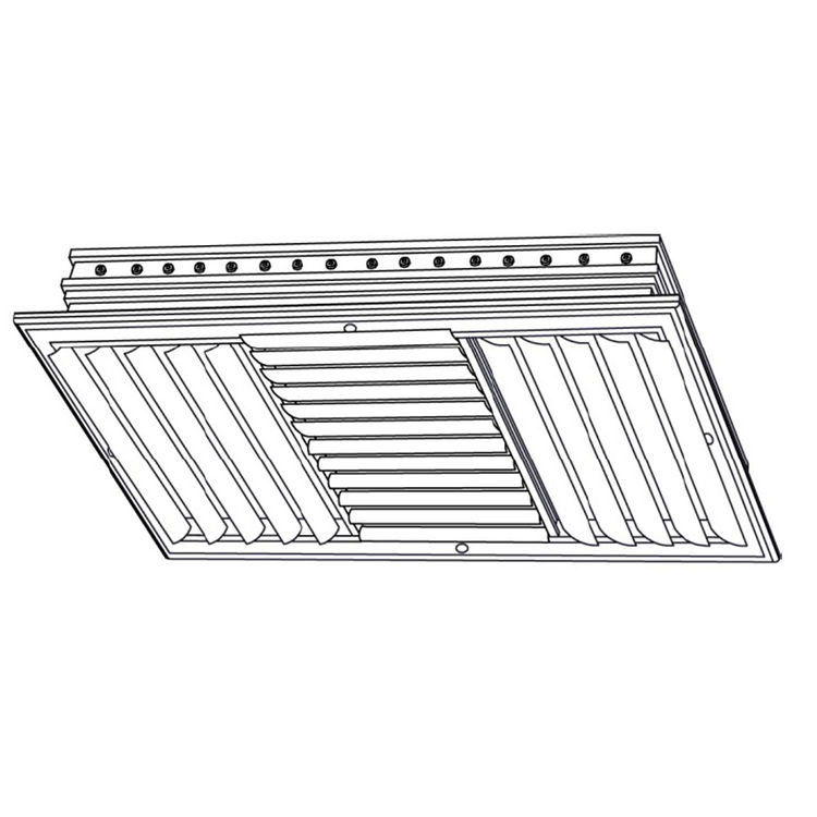 View 3 of Shoemaker CB40-8X6 8X6 Soft White Four-Way Adjustable Curved Blade Diffuser (Aluminum) - Shoemaker CB40