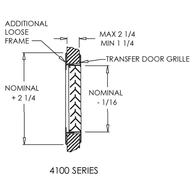 View 3 of Shoemaker 4000-16X16 16X16 Driftwood Tan Single Frame Aluminum Transfer Door Grille (Aluminum) - Shoemaker 4000