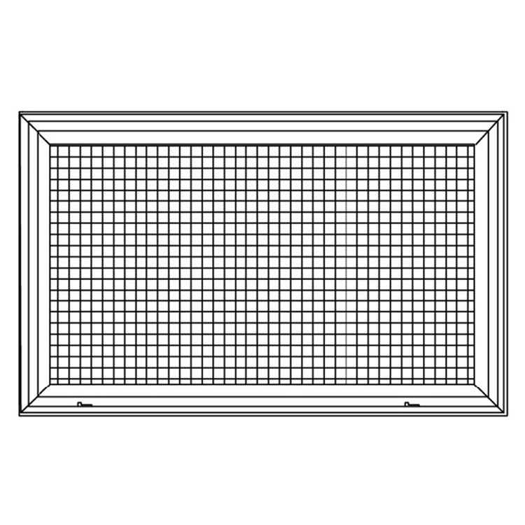 View 6 of Shoemaker 620FG1-24X18 24X18 Soft White Lattice Filter Grille with Steel Frame - Shoemaker 620FG Series