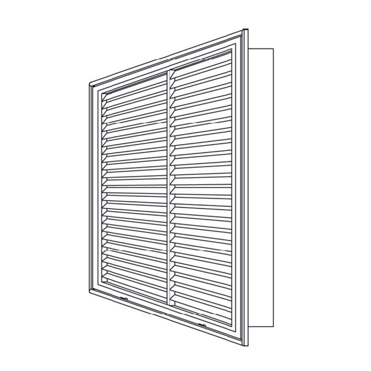 View 6 of Shoemaker 900FG-38X5 38x5 Soft White Fixed Airfoil Blade Filter Grille (Aluminum) - Shoemaker 900FG